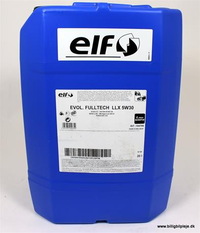 Elf Evolution Full-Tech LLX 5w-30, 20 ltr
