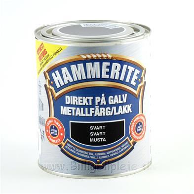 Avanceret Hammerite Direkte På Galvaniseret - Sort - 750 ml. - metalmaling AW57