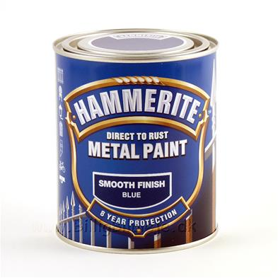 Hammerite Smooth Finish - Blå - 250 ml.