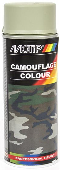 Camouflage Spray Maling Grå, 400 ml - Motip