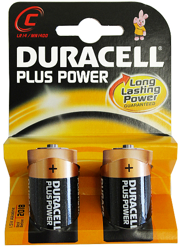 Duracell Plus Power C, 2 stk
