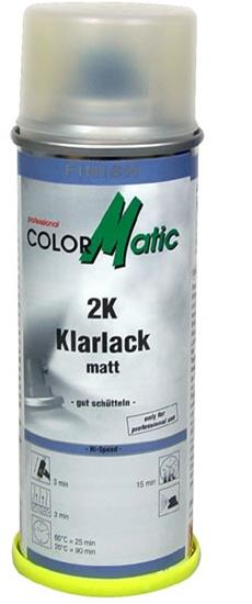 Color Matic 2-K Klarlak Spray Mat, 200 ml